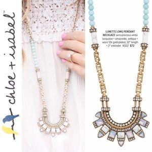 🆕 Lunette Long Pendant Necklace c+i N322